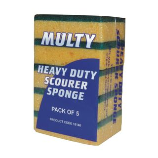 95 x 70 x 30mm Scourer Sponges pkt 5
