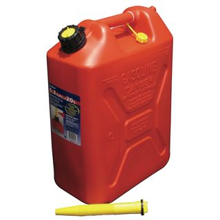 20 Ltr Plastic Jerry Can Red for Unleaded