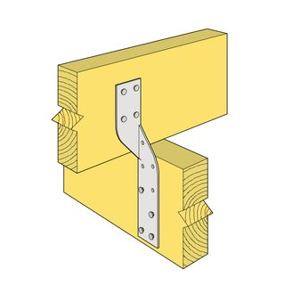 170 x 32mm Unitie Left Hand  (Heavy Duty Joist Strap)