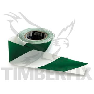 75mm x 100mtr White & Green Tape