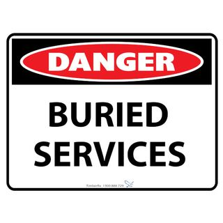 Buried Services 600 x 450mm Poly Sign
