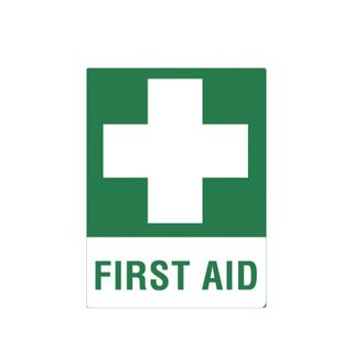 First Aid 600 x 450mm Poly Sign