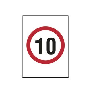 10km Speed Limit 600mm x 450mm Poly Sign