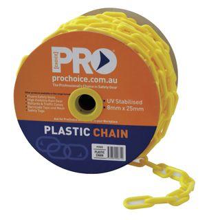 25mtr Roll Yellow Plastic Chain