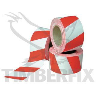 Red & White Barrier Tape 100m roll