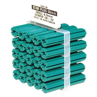 35mm Long Green Wall Plugs (7mm Drill Size)