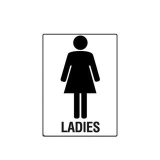 Ladies 300 x 225mm Poly Sign