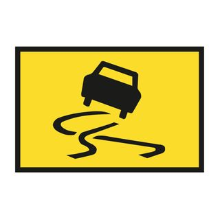 1500 x 900mm Slippery Road Picture Sign