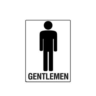 Gentlemen 300 x 225mm Poly Sign