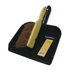 Metal Dustpan & Brush Set