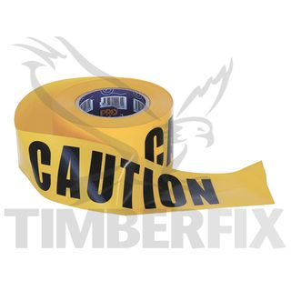 75mm x 100mtr Yellow Caution Tape