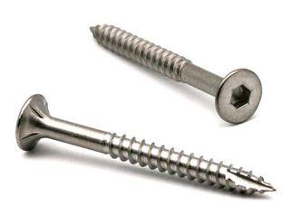 14g x 50mm Stainless 316 Batten Screws - 5mm Hex Drive
