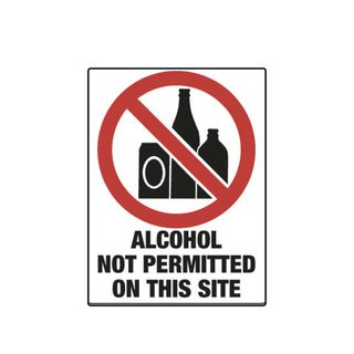 Alcohol Not Permitted on This Site 600 x 450mm Poly Sign