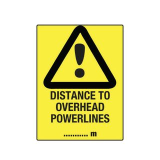 Distance to Overhead Powerlines 600mm x 450mm Poly Sign