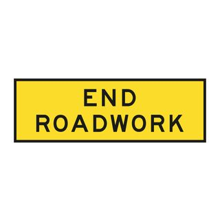 1800 x 600mm End Roadwork Sign