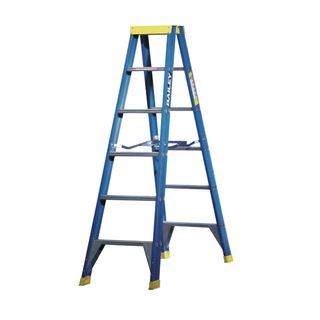 1.8m F/Glass Double Sided Step Ladder