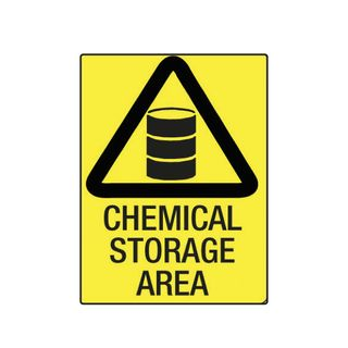 Chemical Storage Area 600mm x 450mm Poly Sign