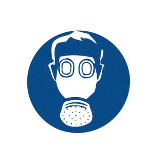 Gas Mask 200mm Round Stickers