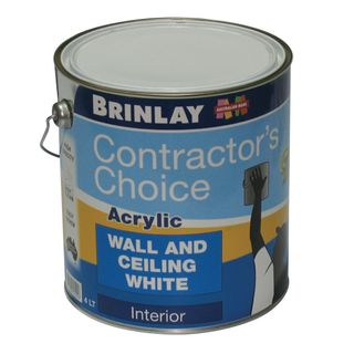 4Ltr Brinlay Acrylic Wall & Ceiling White Paint
