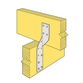 170 x 32mm Unitie Right Hand (Heavy Duty Joist Strap)
