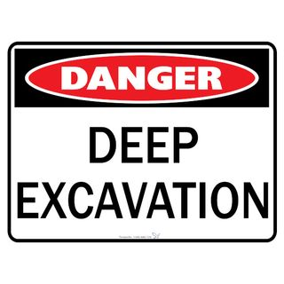 Deep Excavation 600 x 450mm Poly Sign
