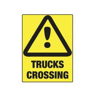 Trucks Crossing 600mm x 450mm Poly Sign