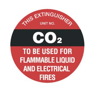CO2 EXT Sign 200mm Poly