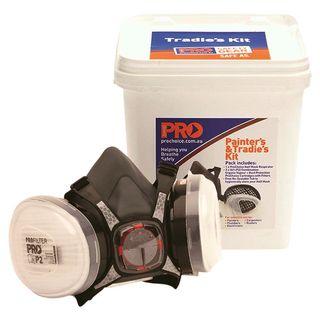 Painters & Tradies Half Mask Respirator Kit (A1 P2 Cartridges) Maxisafe brand