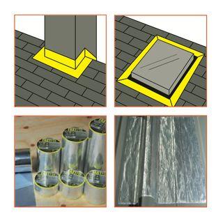 100mm x 5mtr Fastfix Aluminium Reinforced Butyl Flashing Tape