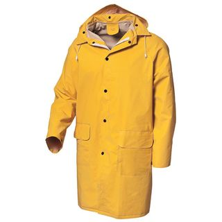 Rain Jacket PVC 3/4 Yellow