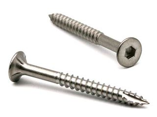 14g x 50mm 304 Grade Stainless Batten Screws - 5mm Hex Drive