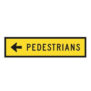 1200 x 300mm Pedestrian Metal Sign