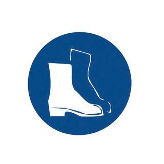 Safety Footwear 200mm Round Stickers
