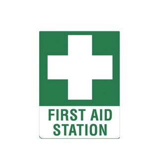 First Aid Station 600 x 450mm Poly Sign