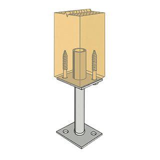 130mm Leg Centre Pin Post Anchor