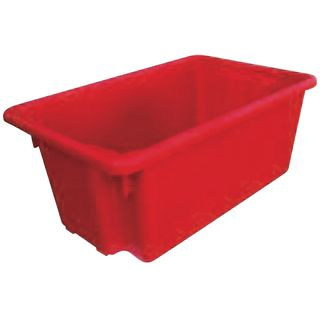 52 Ltr Red Crate 645 x 413 x 2
