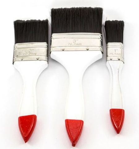 HAYDN ECO BRUSH 3 PACK 25,50,75MM WHITE