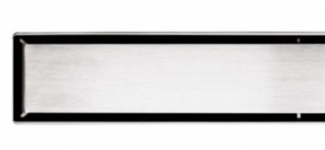 Solid Brushed Stainless Channel Drain