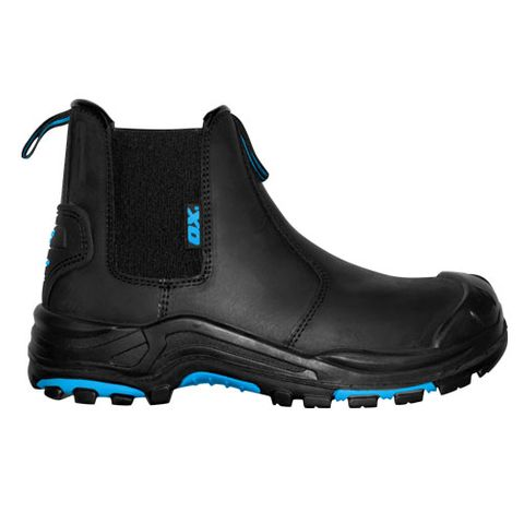 Ox Black Pull On Work Boot