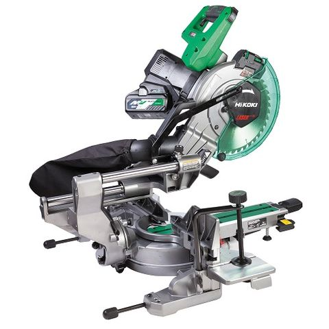 HIKOKI 36V BRUSHLESS 254MM SLIDE COMPOUND MITRE SAW KIT