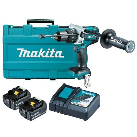 MAKITA 18V LXT 13MM CORDLESS BRUSHLESS HAMMER DRILL DRIVER KIT
