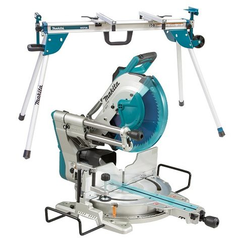 MAKITA 305MM SLIDE COMPOUND SAW WITH STAND