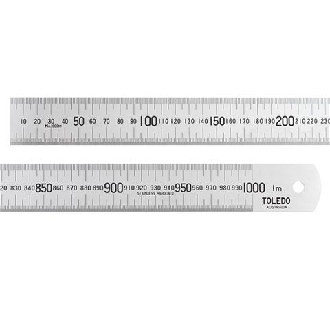 TOLEDO 1000MM STAINLESS RULER