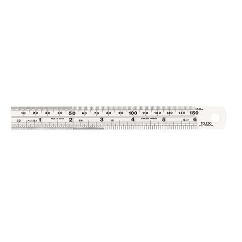 "TOLEDO 150mm-6"" RULER SINGLE SIDED"