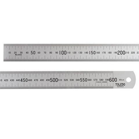 TOLEDO 600MM STAINLESS RULER