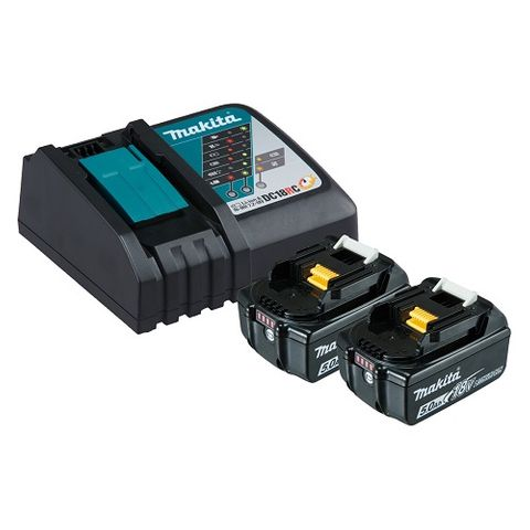 MAKITA LXT KIT 2xBL1850 and DC18RC