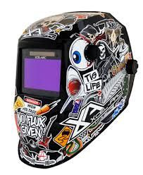 CHAOS AUTO DARKENING WELDING HELMET WITH BOLD GRAPHICS