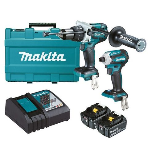 MAKITA 18V BRUSHLESS 2PC HAMMER DRILL DRIVER / IMPACT DRIVER KIT