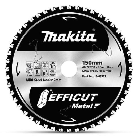 MAKITA  EFFICUT METAL STAINLESS 150x48T