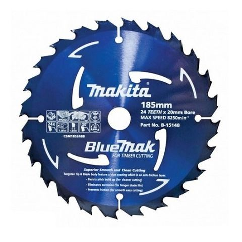 MAKITA BLUEMAK TCT BLADE 185MM 40T